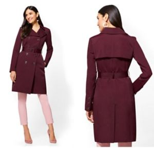 TRENCH COAT - BELTED DOUBLE-BREASTED LONG PLUS XXL